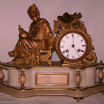 French Ormolu Marble Clock - Clocks