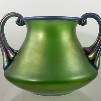 Loetz creta mit blau Silberiris, PN II-5481, ca. 1920 - Art Glass