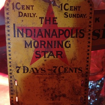 The Indianapolis Morning Star Tin Sign...1903 - Advertising