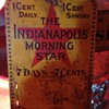 The Indianapolis Morning Star Tin Sign...1903