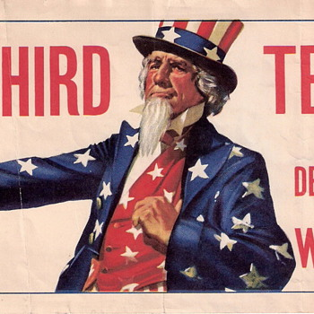 "Anti-FDR ""No Third Term!"" Decal WILKIE Uncle Sam - Posters and Prints"