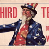 Anti-FDR &quot;No Third Term!&quot; Decal WILKIE Uncle Sam