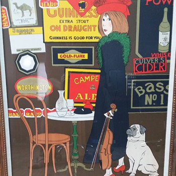 1970s advertising serigraph by unknown artist  - Posters and Prints