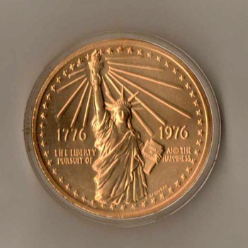 1976 - Bicentennial Medal (Statue of Liberty) - US Coins