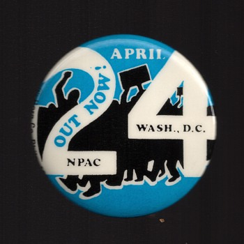 OUT NOW April 24 NPAC pinback button