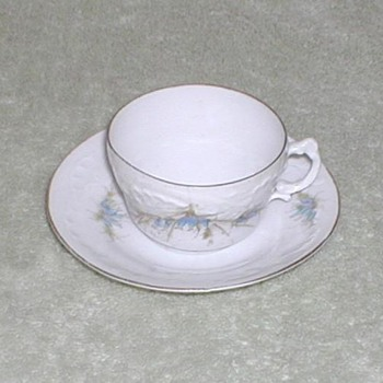 Austrian china cup &amp; saucer set