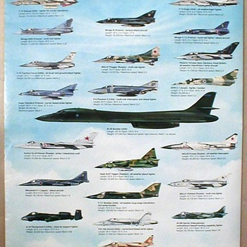 1993 - Military Aircraft (World) Poster - Posters and Prints