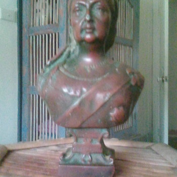 "My late Mother queen victoria bust 1837-1897 6 1/2"" high approx 2.5kilos appears to be Bronze - Visual Art"
