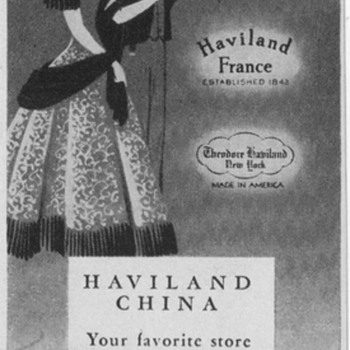1950 Haviland China Advertisement - Advertising