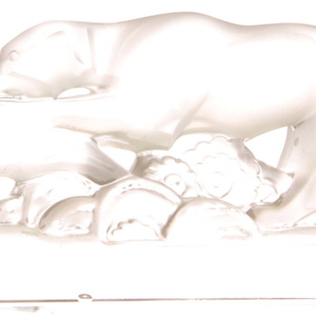 BACCARAT FROSTED HOUND & HARE - Art Glass