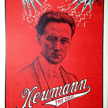 "Original ""Newmann The Great"" Stone Lithograph window Card"
