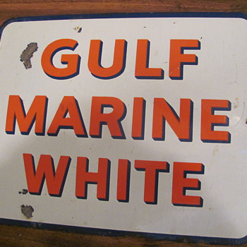 Gulf &amp; Texaco station signs