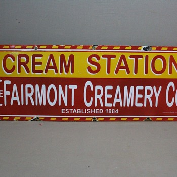 Fairmont Creamery Company Sign