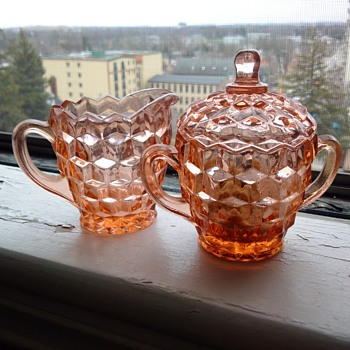Cubist Jeannette Depression Glass 1929-1933. Mint.