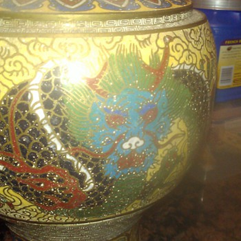 Cloisonne Vase with Dragon - Asian