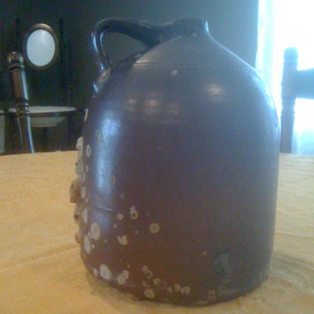Antique Clay Gallon Jug