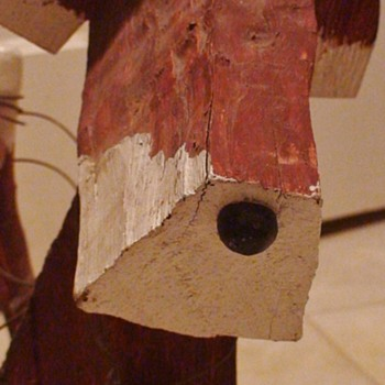 """Woody"" The Weird Wooden Dog - Folk Art"