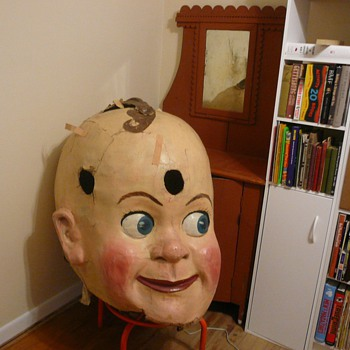Giant Big Folk Art Head - Folk Art
