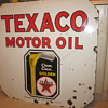 Texaco Double Sided Porcelain Sign...Six Colors