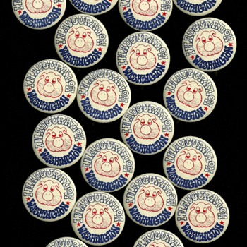 YIPPIE Party Pigasus the Immortal 1969 Inauguration Pinback Button Lot - Medals Pins and Badges