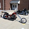 1967 Harley sportster motor in 1962 BSA Chopper frame