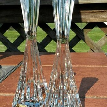 Crystal Candlestick Holders
