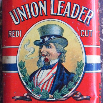 Union Leader Tobacco Tin-Uncle Sam - Tobacciana