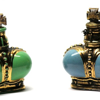 Prince Matchabelli Mini Bottles - Green-Windsong & Blue-Beloved - Bottles