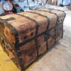 Antique 1850's Jenny Lind Trunk -- Before shot