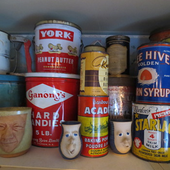 My cool vintage cans and Nova Scotia pottery