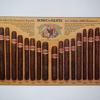 Romeo y Julieta Cigars - Full Line Counter Display - Tobacciana