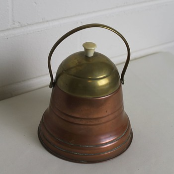 Copper and brass bell shaped container - 1930s chafing dish