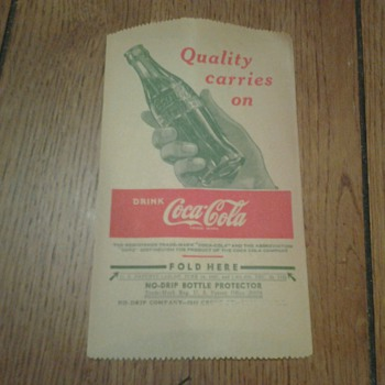 Coca Cola No Drip Bottle Protectors and One Gallon Syrup Box