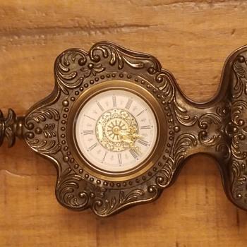Vintage Metal Cold War Era West German Windup Mantle Clock