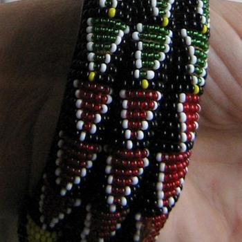 African seed bead bangle