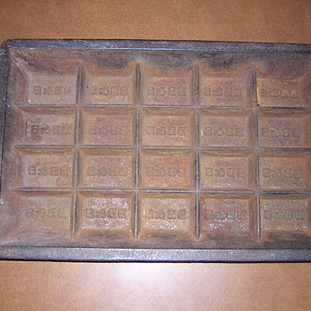 Antique Mining or Assayers Gold or Silver Ingot Mold