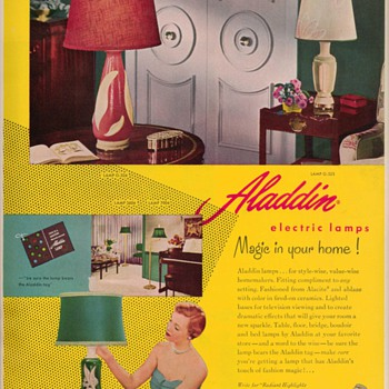 1950 Aladdin Electric Lamps Advertisement - Advertising