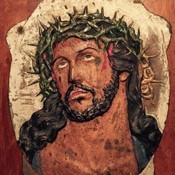 Brass Jesus plaque - Visual Art