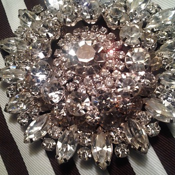 Juliana Large Brooch - Costume Jewelry