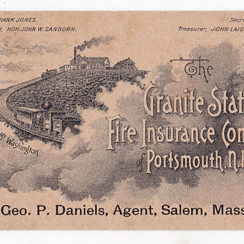 Granite State Insurance Company , Frank Jones beer?
