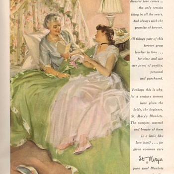 1954 - St. Marys Blankets Advertisement - Advertising