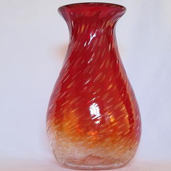 A Pretty Big Amberina Vase