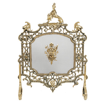 HERALDIC FIRE SCREEN FROM IRELAND