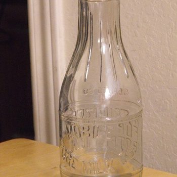 Mobile Pure Milk Co Quart Milk Bottle