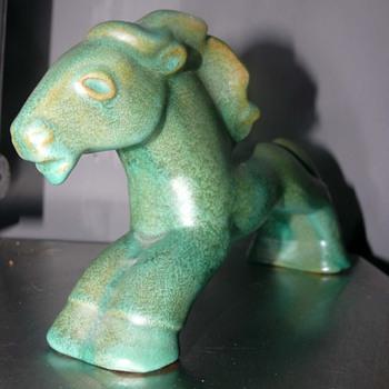 art deco Kupittaan Savi Oy Horse - Art Pottery