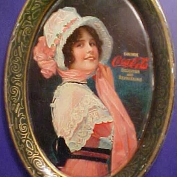 "Coca Cola 1914 ""Betty "" tip tray"