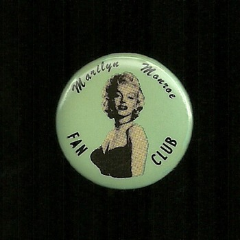 1956 Marilyn Monroe Fan Club Pinback Button