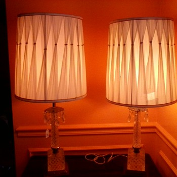 Pair of 1960 Chrystal Lamps