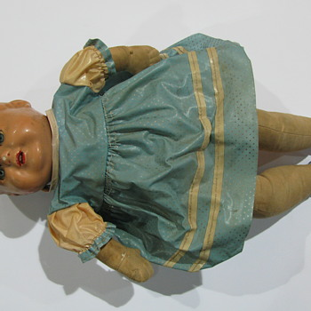 DOLL,unidentified vintage composite PALITOY. - Dolls