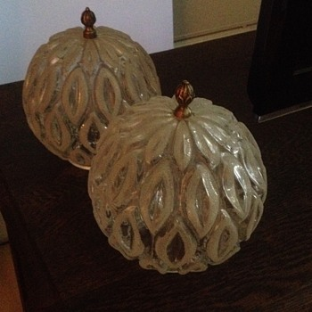 Mid Century Art Glass Pendant Light Shades